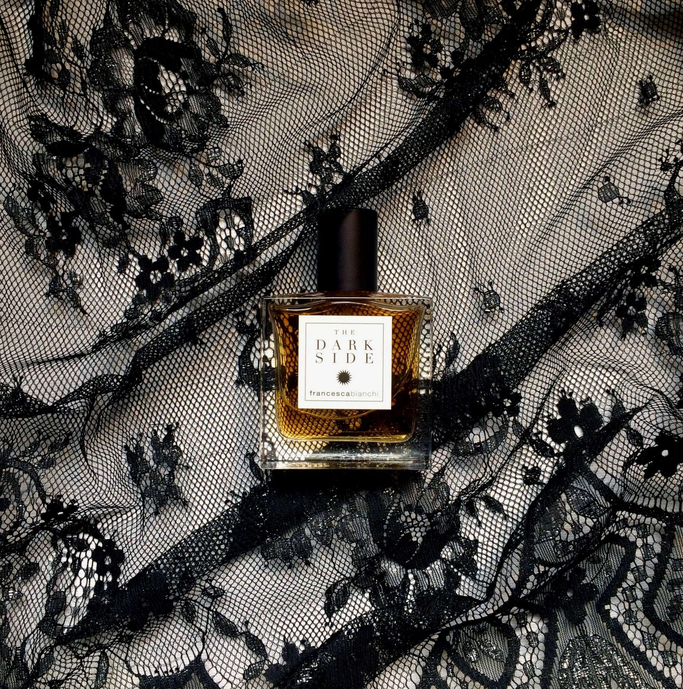 Dark Side over black textile | Francesca Bianchi Perfumes